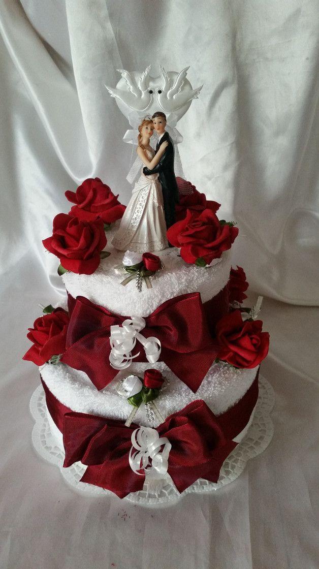 Hochzeit Torte Geldgeschenk Handtuchtorte Grun