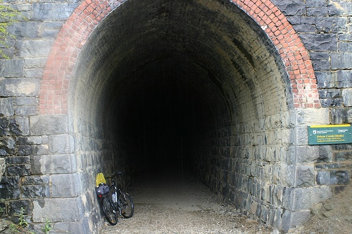 On the Otago Central Rail Trail, Tunnel near Hyde by Bay Lair Gang, via Flickr