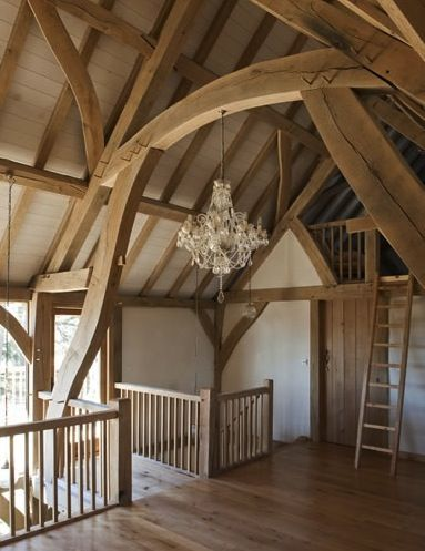 Oak timber framing at Castle Ring
