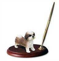 "Shih Tzu Pen Holder (Tan Sport cut): ""This spectacular Tan Sport cut Shih Tzu Pen Holder will spruce… #PetProducts #PetGifts #AnimalJewelry"
