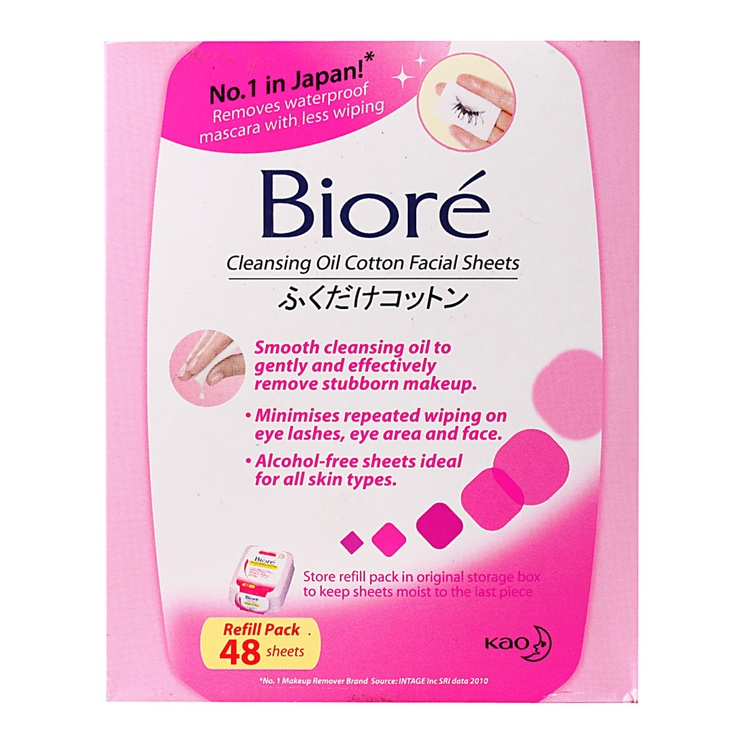 Biore Cleansing Oil Cotton Facial Sheets Refill Pack - http://essentialsmart.com/product/biore-cleansing-oil-cotton-facial-sheets-refill-pack