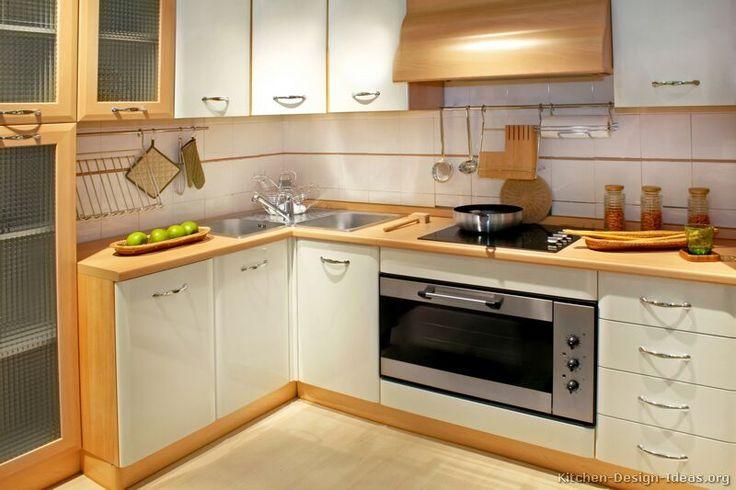Modern Two-Tone Kitchen Cabinets #03 (Kitchen-Design-Ideas.org)