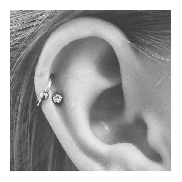 Double helix, double cartilage piercing, hoop and stud ❤ liked on Polyvore featuring jewelry, earrings, stud earrings, earring jewelry, studded jewelry and hoop earrings