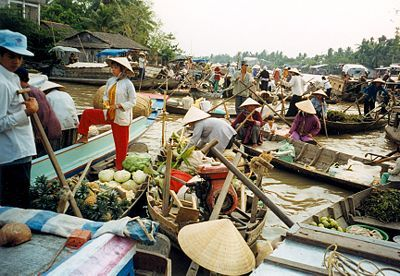 Can Tho floating market- Vietnam (3 hour bus from Ho Chi Minh City)