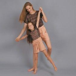 Korte Kinder-Jumpsuit met Kanten Top
