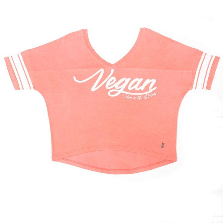Vegan Varsity Woman's Tee – Viva La Vegan