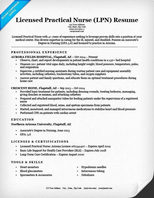 Nursing Student Resume Template Unique Licensed Practical Nurse Lpn Resume Sample Writing Lpn Resume Practical Nursing Nursing Resume
