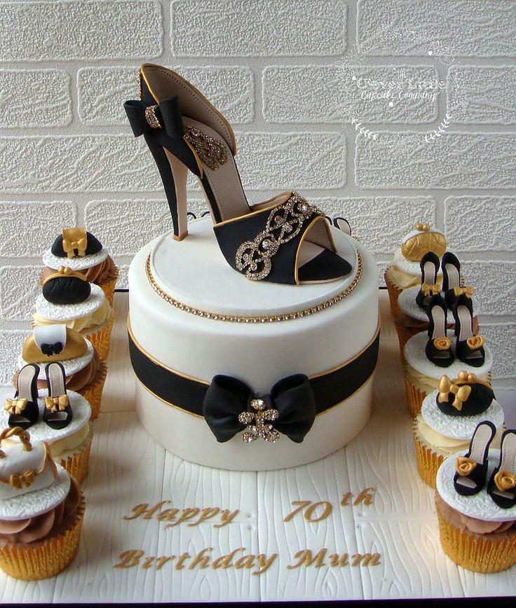 https://flic.kr/p/zC3Foq | Shoe Cake | Vanilla sponge with matching vanilla and chocolate cupcakes.