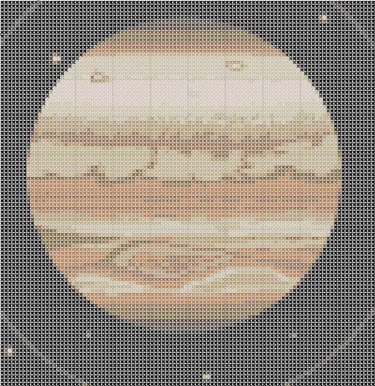 Jupiter Solar System Cross Stitch Pattern Simple & Fun PDF