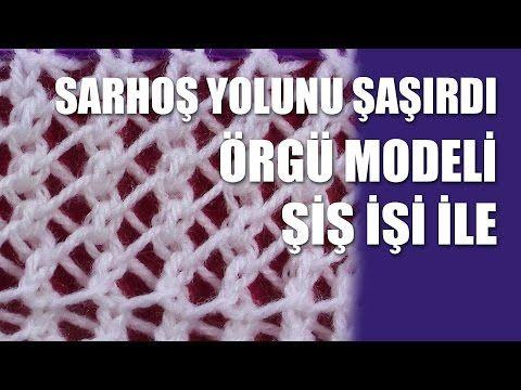 YAZLIK HAROŞA Örgü Modeli - Şiş İşi İle Öegü Modelleri - YouTube