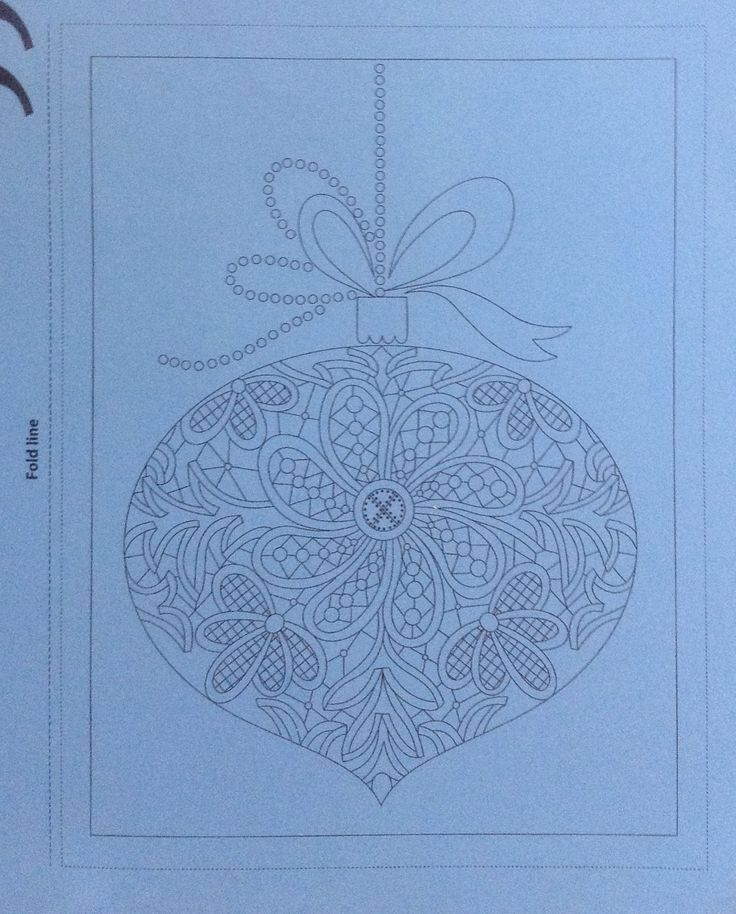 Christmas bauble pattern