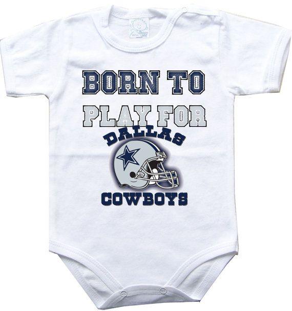 Baby bodysuit Born to play for Dallas Cowboys by sportFanBaby
