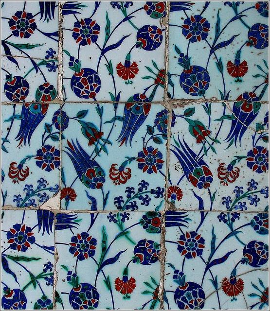 Turkish tiles: Eyup Mosque, Istanbul