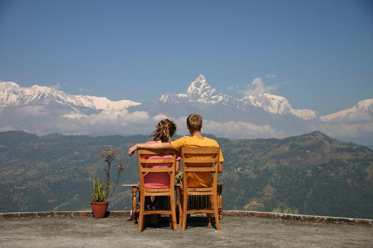 Наблюдение за горами в Непале / Annapurna in Nepal and we #annapurna