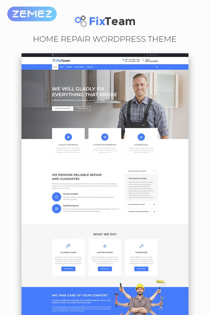 FixTeam – Fix Services Multipurpose Classic Elementor WordPress Theme