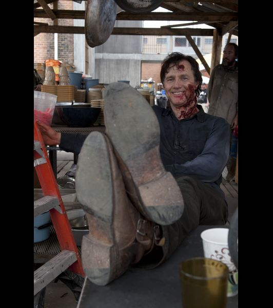 'The Walking Dead': Behind The Scenes Candids - David ...