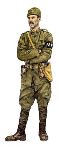 Sargento, Policía Militar, Octubre de 1918.