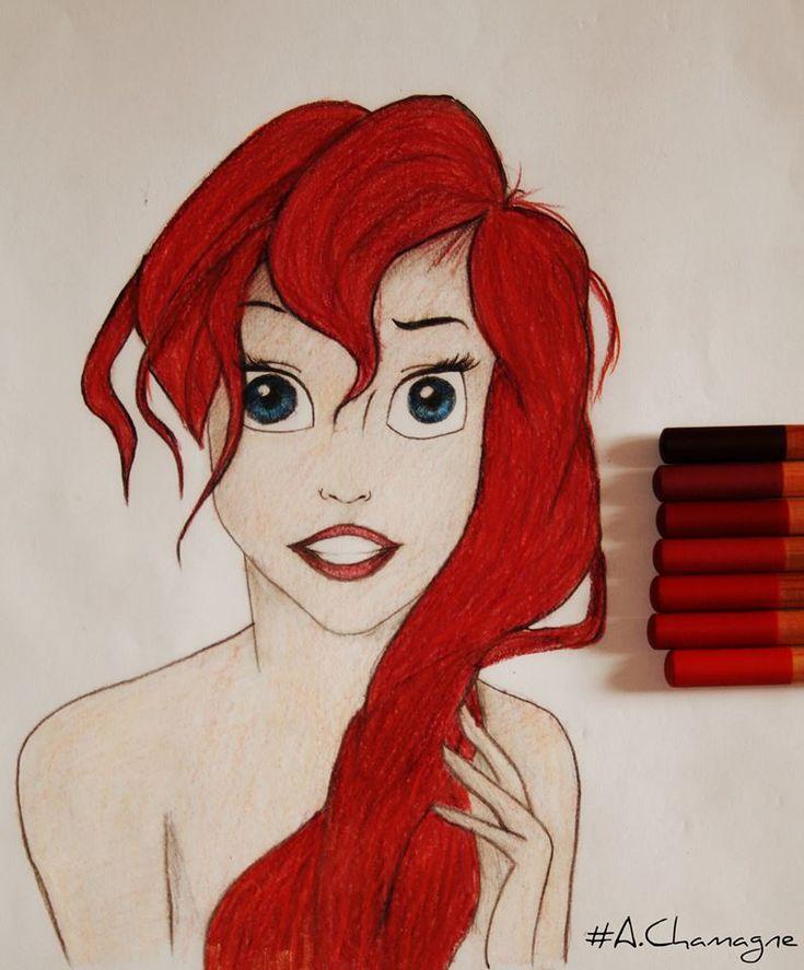 Passion Of Drawing  Desin de la Petite Sirene Disney