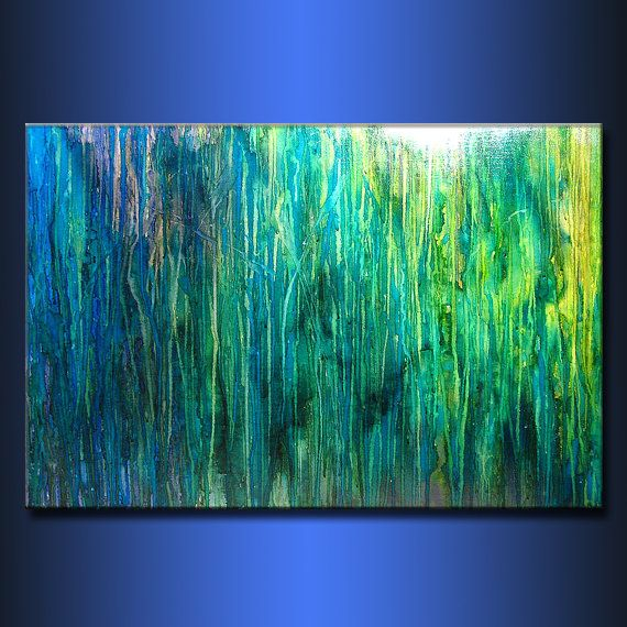 Original Abstract painting Contemporary art by newwaveartgallery