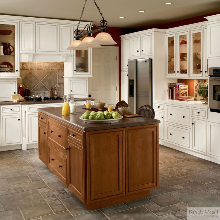 Kitchen Island Kraftmaid 44 best kitchens: light & timeless images on pinterest | kitchen