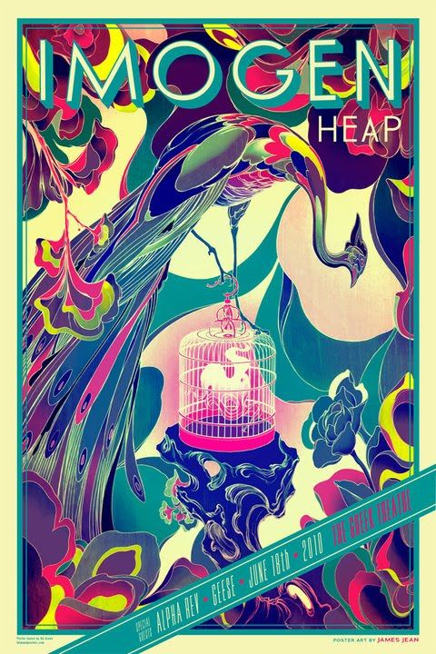 Imogen Heap concert poster by James Jean, very cool