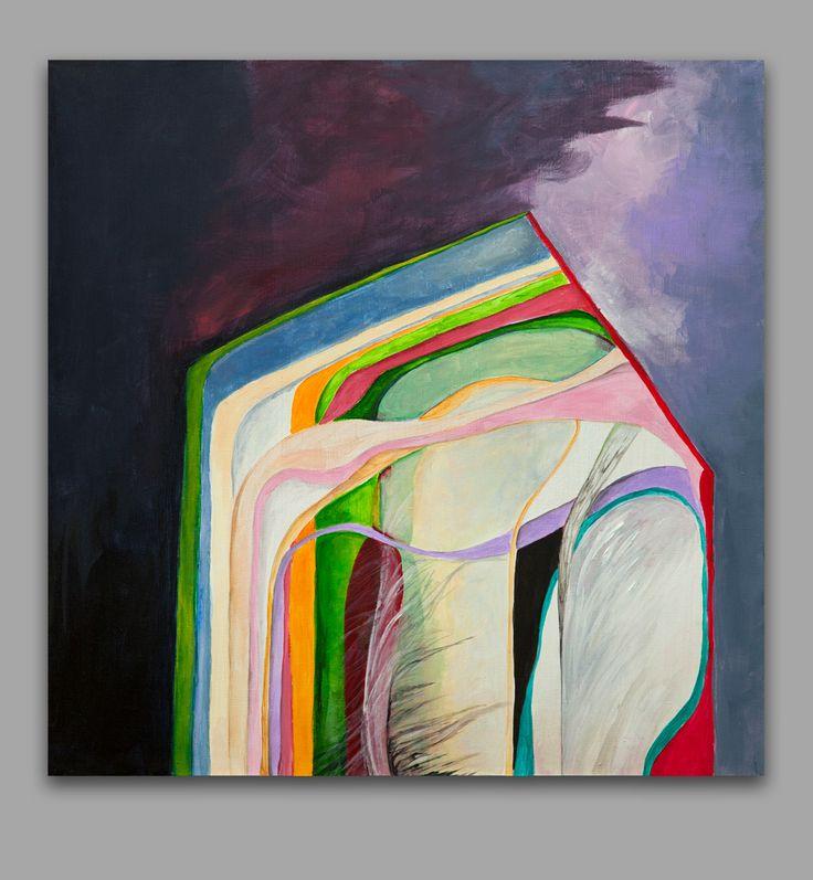 """""""Дом в разрезе"""". 2016. акрил, холст на раме. 60х60см"""