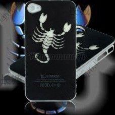 Tyylikäs skorpioni valosuojakuori, iPhone 4 / 4s