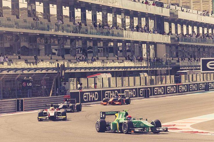 Race action in Abu Dhabi