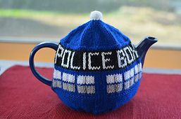 A dilema... pin to Doctor Who or Crochet board?  Ravelry: T.A.R.D.I.S Tea Cosy pattern by Gail Hodgman