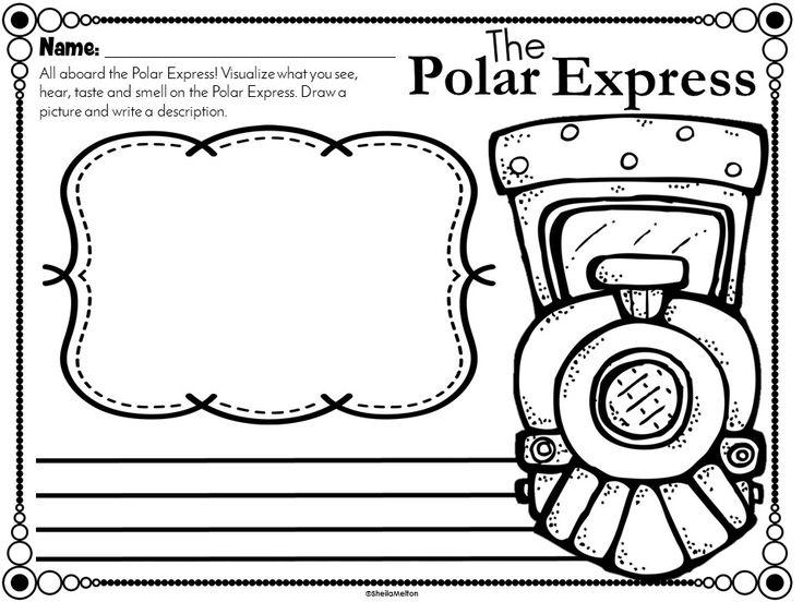 Visualize a ride on the Polar Express using all your senses! Students will visualize a ride on the Polar Express and write about it.