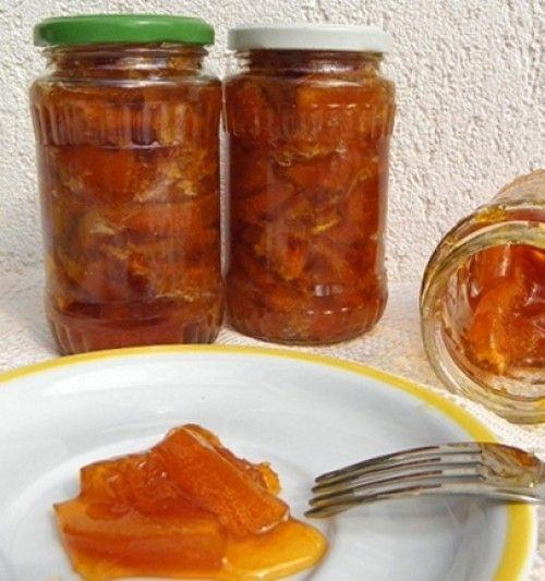 Szirupban eltett narancs