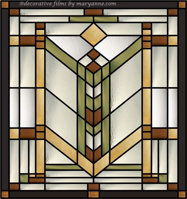 quoitzel stained glass window clings for clear transom windows use a craftsmanmission style - Decorative Window Film Stained Glass
