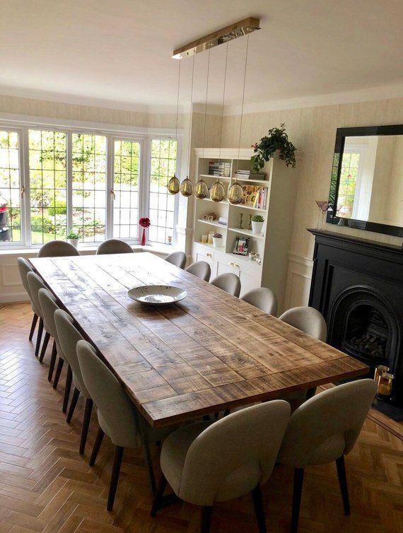Rustic Industrial Extra Large Dining Table Boardroom Table Diseno De Mesas De Comedor Grandes Mesas De Comedor Mesas De Comedor Cuadradas