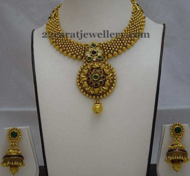 Kundan Necklaces by Totaram Jewellers | Jewellery Designs