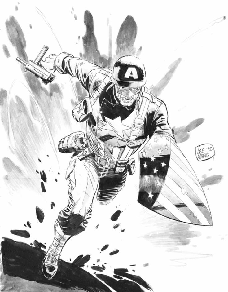 WWII Captain America by Lee Weeks #LeeWeeks #CaptainAmerica #SteveRogers #Avengers #Illuminati #SHIELD #AllWinnersSquad #TheInvaders #USArmy #SuperSoldier