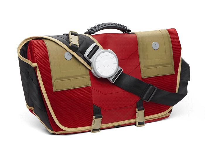 Marvel Stark Industries Messenger Backpack Is Missing Lasers, But Has Iron Man's Flair -  #fashion #ironman #marvel