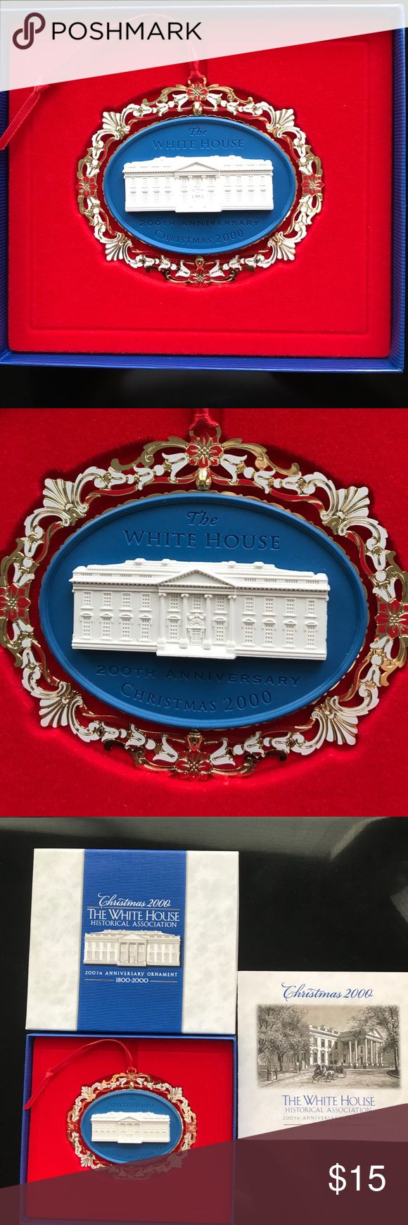 White House Ornaments Y2K This is a 200th Anniversary Historical White House Christmas ornament 1800-2000 from the Historical Association. Other