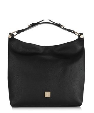 Freya black leather slouch bag - Mulberry