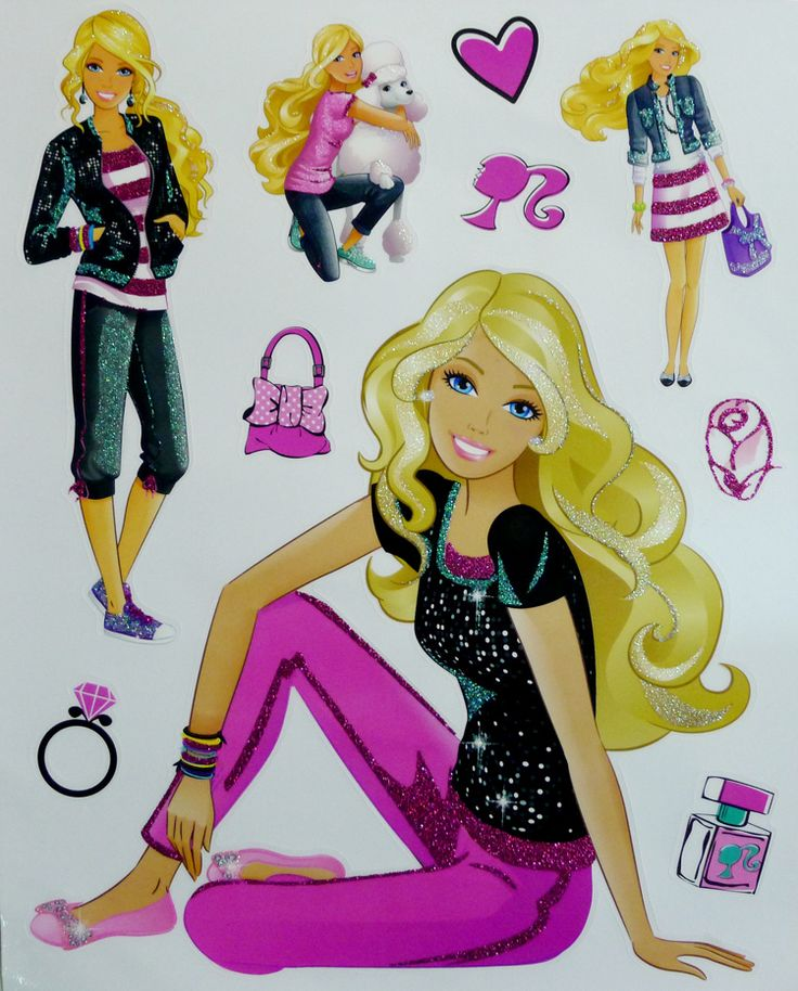 7 best stickers images on pinterest baby rooms child for Barbie wall mural