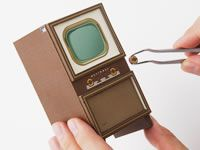 Accurate paper model of vintage Panasonic television - a few pictures but not instructions - just for inspiration