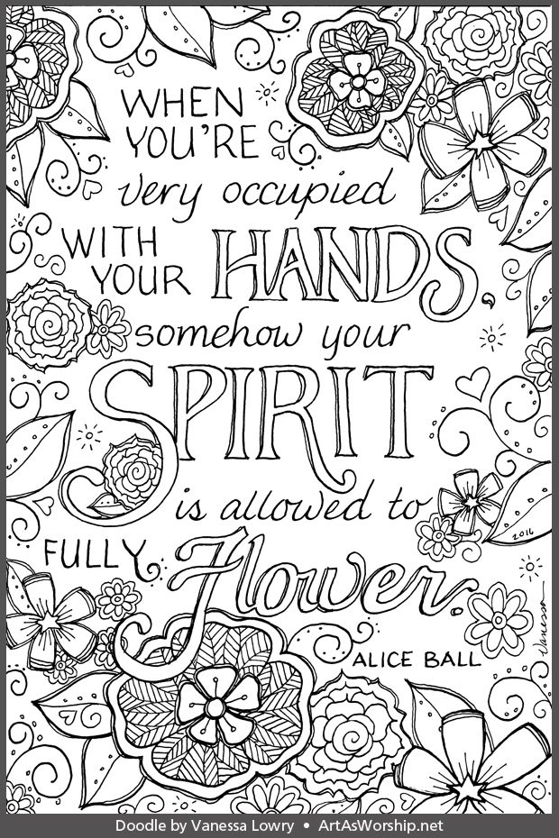 Find Out More About Alice Ball And Listen To Her Interview On Art As Worship Radio ColouringColoring BooksAdult ColoringHand LetteringDoodle