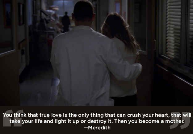 "There's no love like a parent's love. | 23 Life Lessons We Learned From ""Grey's Anatomy"""