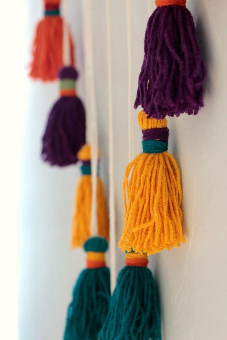 Bohemian Wall Hanging Tassle Mobile Made To Order Diy