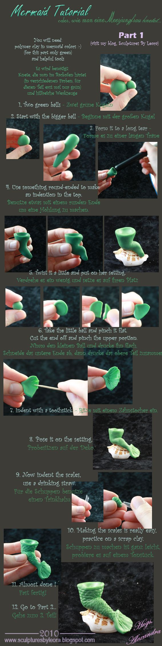 Tutorial Mermaid, Nixe by ALBuslovich.deviantart.com on @deviantART
