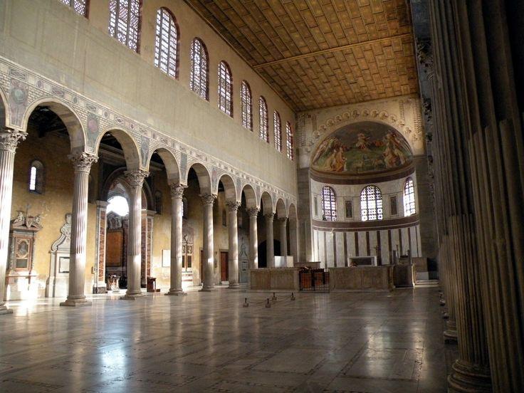 Arquitectura paleocristiana. Basílica de Santa Sabina, Roma.