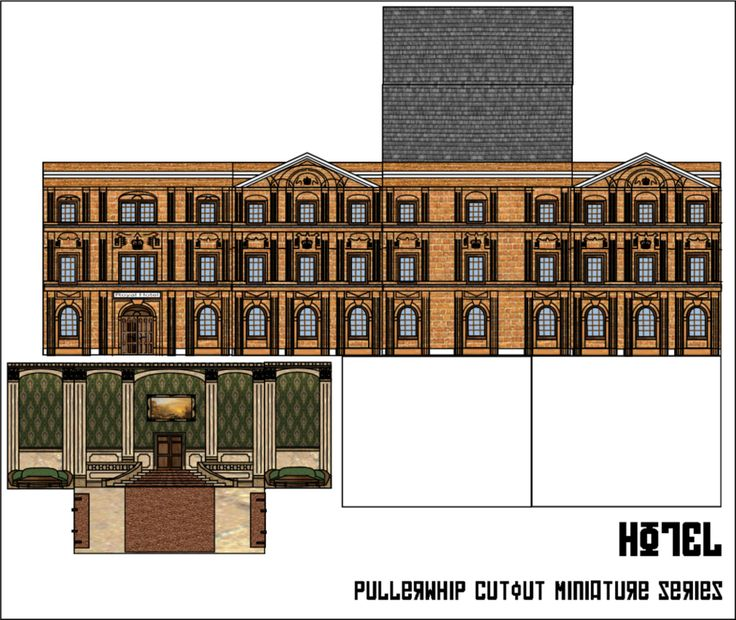 Hotel by pullerwhip buildings and accessories ho scale - Printable ho scale building interiors ...