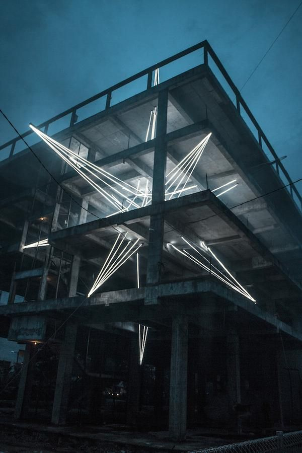 Massive Led Star Lights Up Malaysia Led Star Lights Light Installation Public Art
