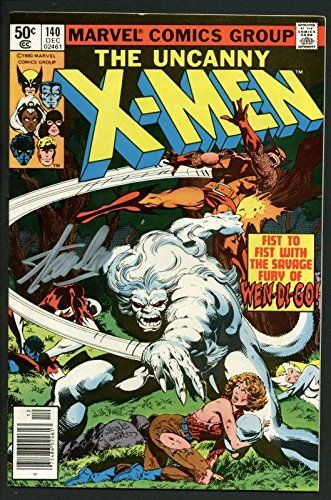 Stan Lee Signed The Uncanny X-Men #140 Comic Book 1980 Wendigo PSA/DNA #W18700 @ niftywarehouse.com #NiftyWarehouse #Xmen #Marvel #X-Men #Comics #Geek #ComicBooks