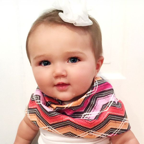 Scarf Bib - Drool Bib - Baby Scarf - Dribble Bib - 100% Cotton - Velcro Closure - Lined with ultra lightweight yet absorbent cotton flannel - perfect for any se
