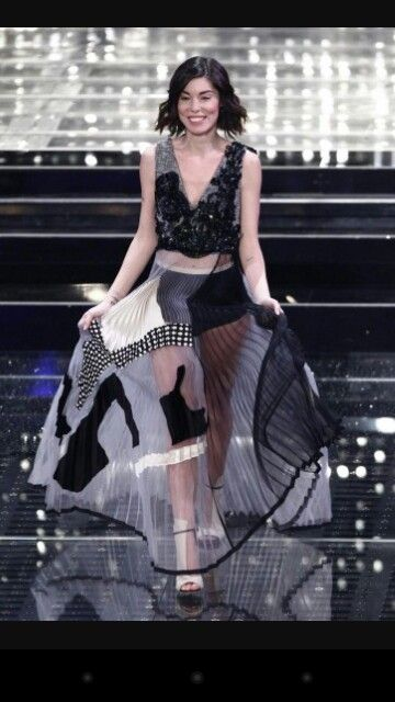 Bianca #atzei wears @antoniomarras Pleated dress wonderful